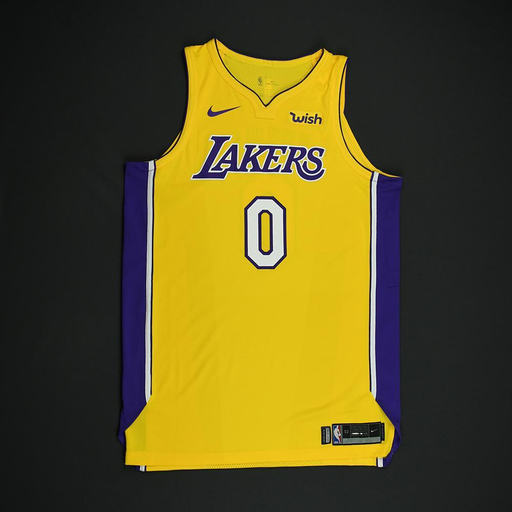 promo code 742d6 ab854 Kyle Kuzma - Los Angeles Lakers - Game-Issued Jersey - 2017 ...