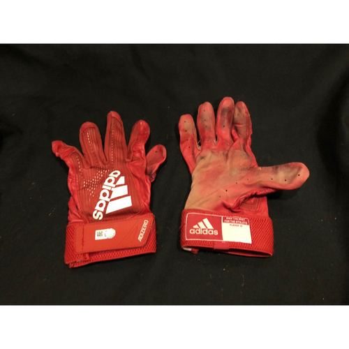 Photo of Billy Hamilton -- Game-Used Batting Gloves -- Used on Final Game of 2018 Season