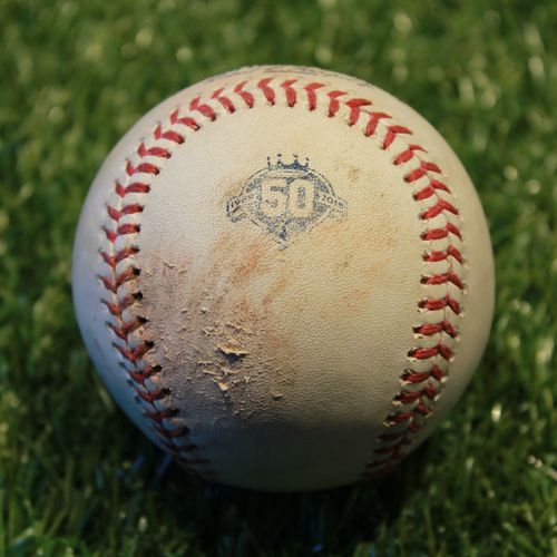 Photo of Game-Used Baseball: Joey Rickard 168th Career Hit (9/2/18 - BAL @ KC)