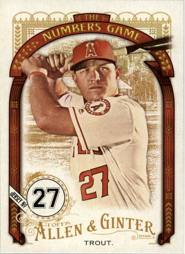 Photo of 2016 Topps Allen and Ginter The Numbers Game #NG31 Mike Trout