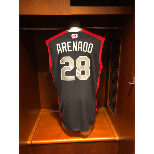 Photo of Colorado Rockies Autographed Jersey: Nolan Arenado 2019 All-Star Game Work-Out (Not used)