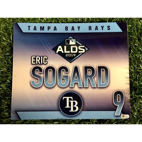 Photo of Game Used ALDS Locker Tag: Eric Sogard - October 7, 2019 v HOU