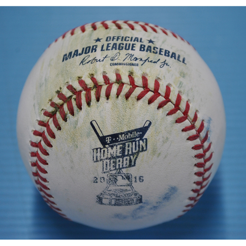 Photo of Game-Used Baseball - 2016 Home Run Derby - Mark Trumbo - Semifinals, Out