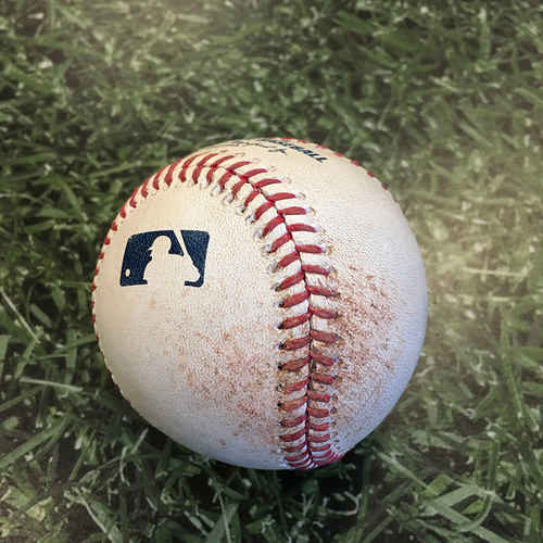 Photo of Game-Used Baseball STL@MIL 09/15/20 - Jack Flaherty - Christian Yelich: Single