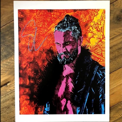 Photo of Seth Rollins SIGNED Rob Schamberger 11 x 14 Art Print (2021)