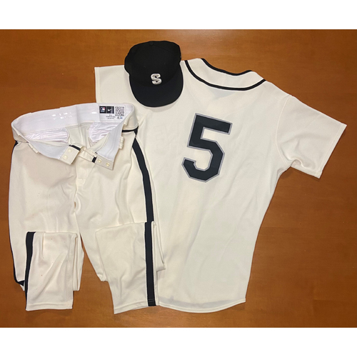 Photo of 2021 Game Used Seattle Steelheads Salute to Negro Leagues Uniform - #5 Jake Bauers