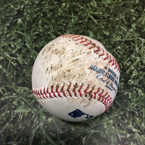 Photo of Game-Used Baseball CHC@MIL 06/30/21 - Trevor Richards - Rex Brothers: Strike (Aaron Ashby MLB Debut; Brewers Erase 7-0 Deficit, Win 15-7)