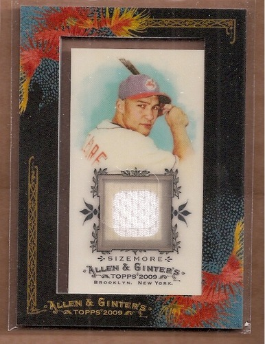 Photo of 2009 Topps Allen and Ginter Relics #GSI Grady Sizemore Jsy D