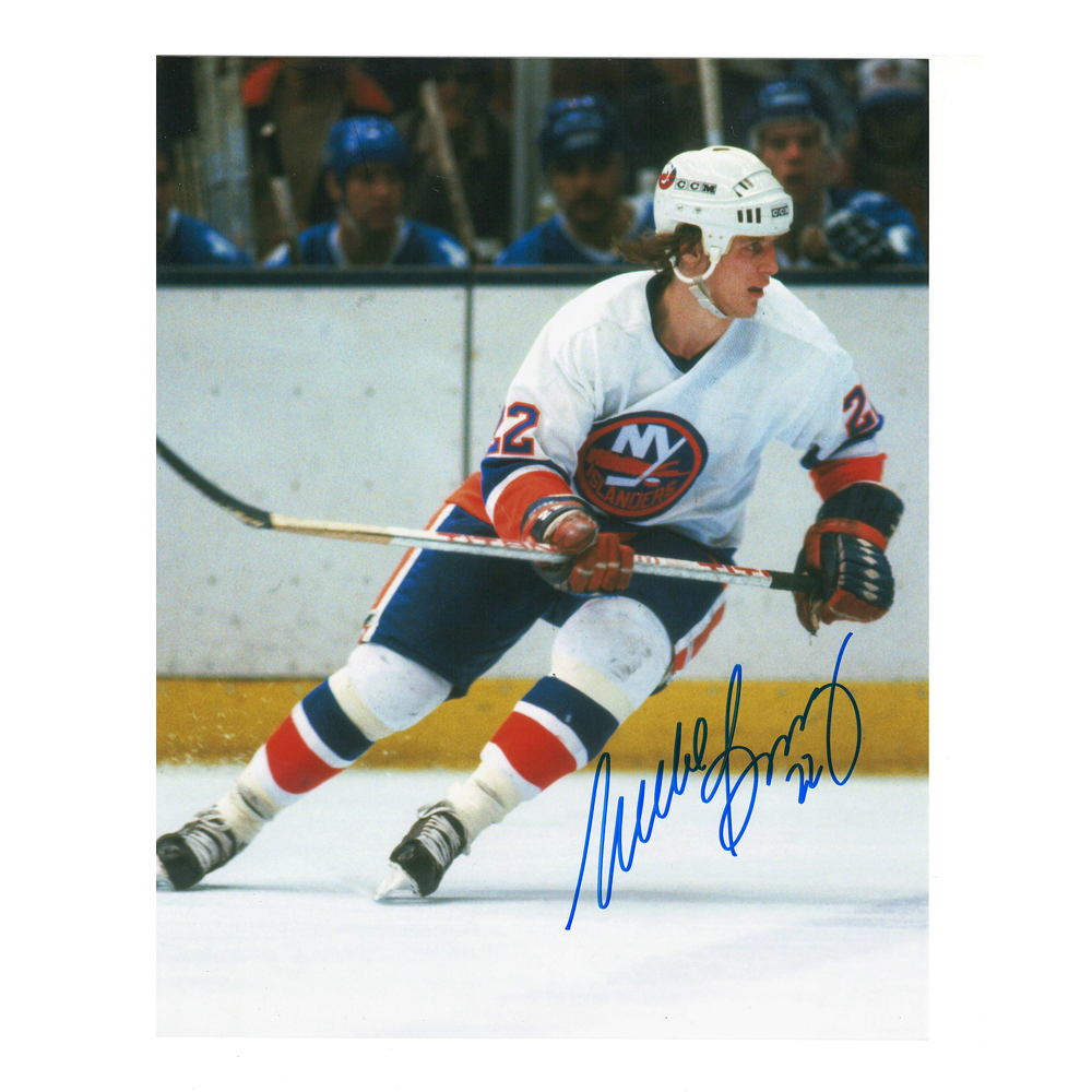 MIKE BOSSY Signed New York Islanders 8 X 10 Photo  - 70299