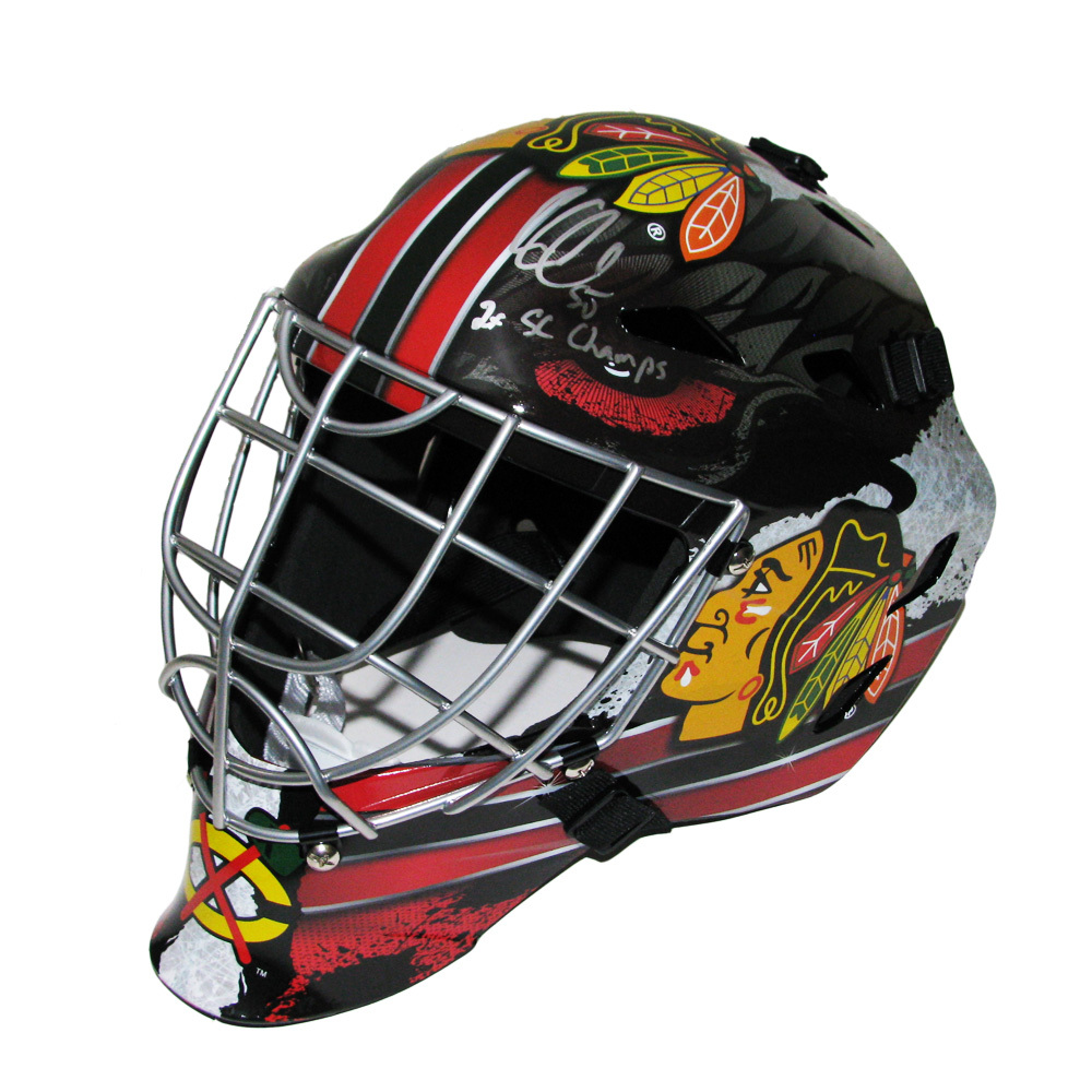 COREY CRAWFORD Signed Chicago Blackhawks Full Size Goalie Mask Inscribed