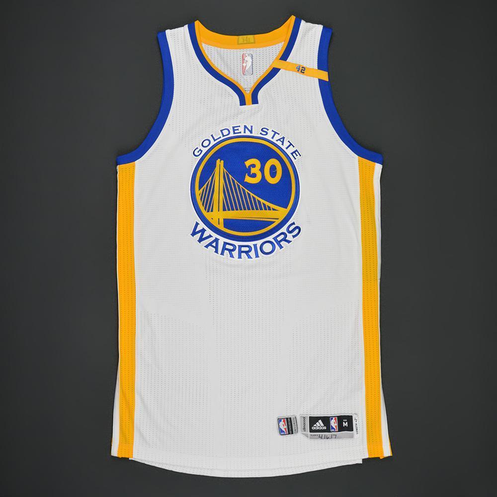 Stephen Curry - Golden State Warriors - White Playoffs w ...
