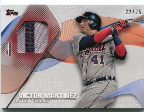 Photo of 2017 Topps Major League Materials Red #MLMVM Victor Martinez 22/25