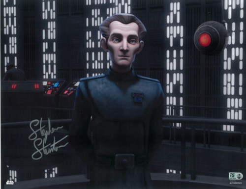 Stephen Stanton as Tarkin 16x20 Autographed in Silver Ink Photo