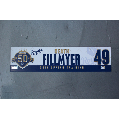 Photo of Spring Training Locker Nameplate: Heath Fillmyer