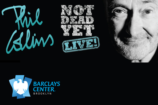 Clickable image to visit Two Floor Seats for Phil Collins at Barclays Center, Plus Hotel Stay