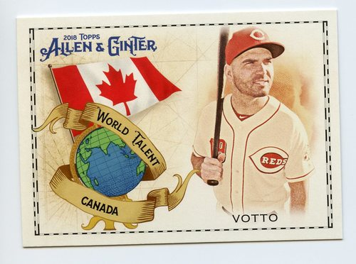 Photo of 2018 Topps Allen and Ginter World Talent #WT6 Joey Votto