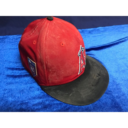 Photo of Mike Trout 2018 Team-Issued Spring Training Cap