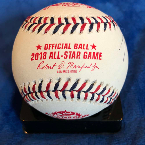 Photo of UMPS CARE AUCTION: 2018 All-Star Game Crew Signed Baseball