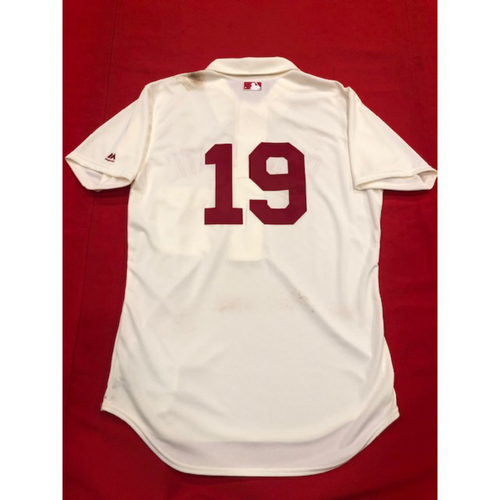 Photo of Joey Votto -- 1902 Throwback Jersey -- Game-Used -- SF vs. CIN on May 4, 2019