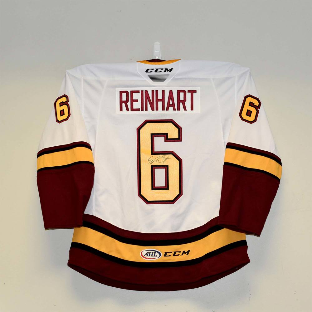 Chicago Wolves 2019 Calder Cup Finals Game 1 Jersey Worn and Signed by #6 Griffin Reinhart