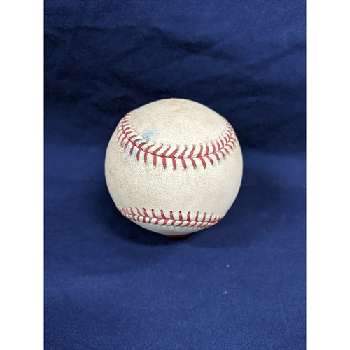 Photo of Game Used Baseball: Pitcher: Chris Paddack, Batter: Matt Beaty - RBI Double - Bot 4 - 8-4-2019 vs. SD