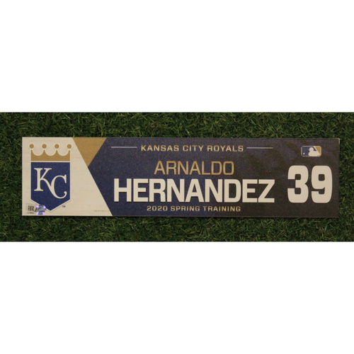 Photo of Game-Used Spring Training Locker Tag: Arnaldo Hernandez #39