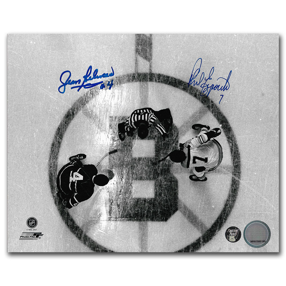 Jean Beliveau & Phil Esposito Autographed 8X10 Combo Photo