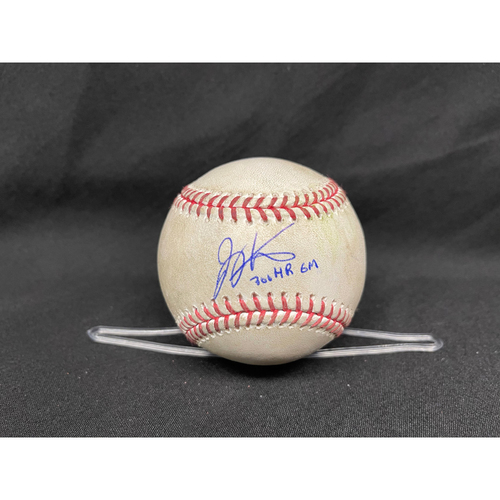 Photo of Joey Votto *Game-Used, Autographed & Inscribed* Baseball from 300th Career HR Game - Jose De Leon to Javier Baez (Single) -- 04/30/2021 - CHC vs. CIN - Top 7
