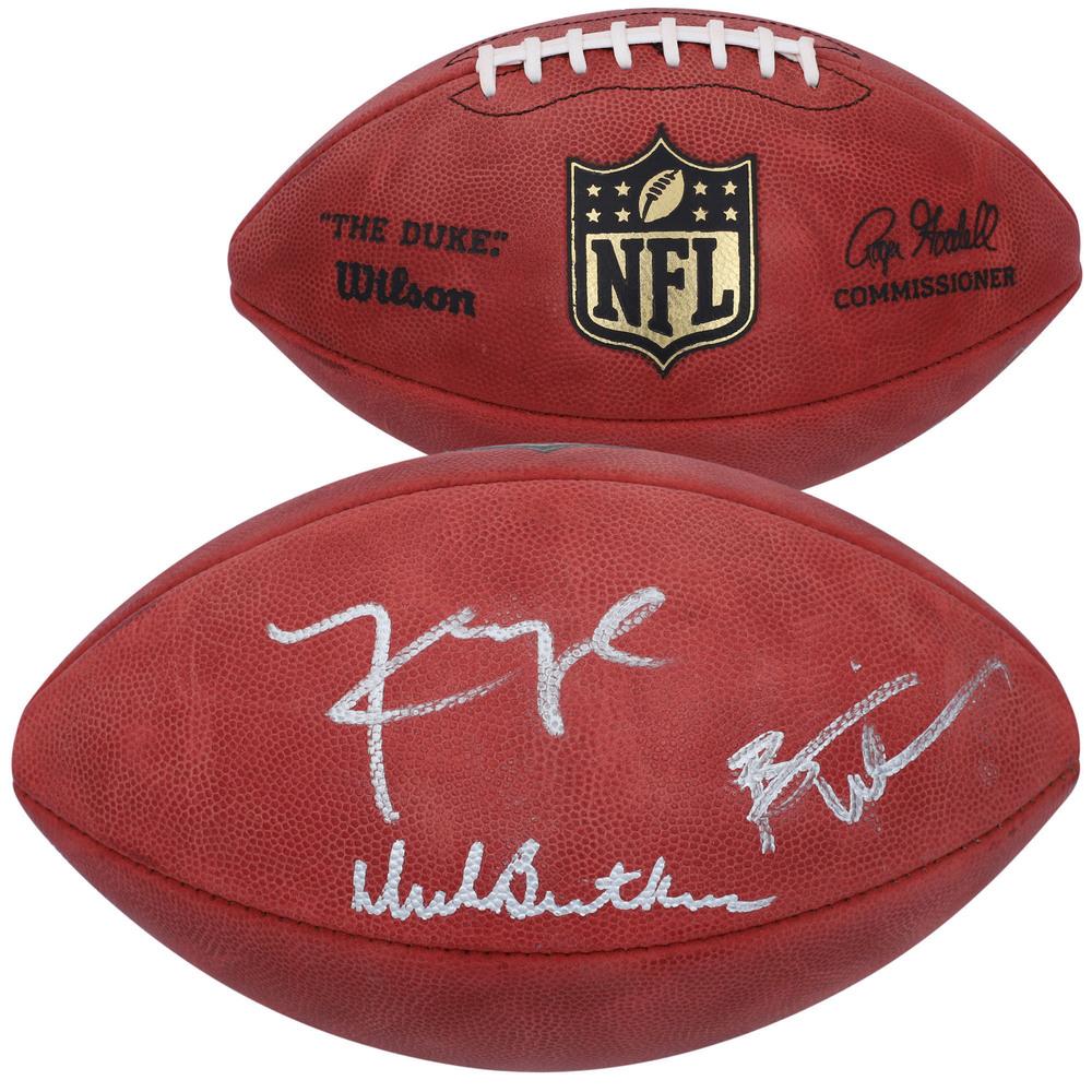 Dick Butkus, Brian Urlacher & Khalil Mack Chicago Bears Autographed Wilson Duke Pro Football