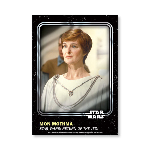 Mon Mothma 2016 Star Wars Card Trader Base Poster - # to 99