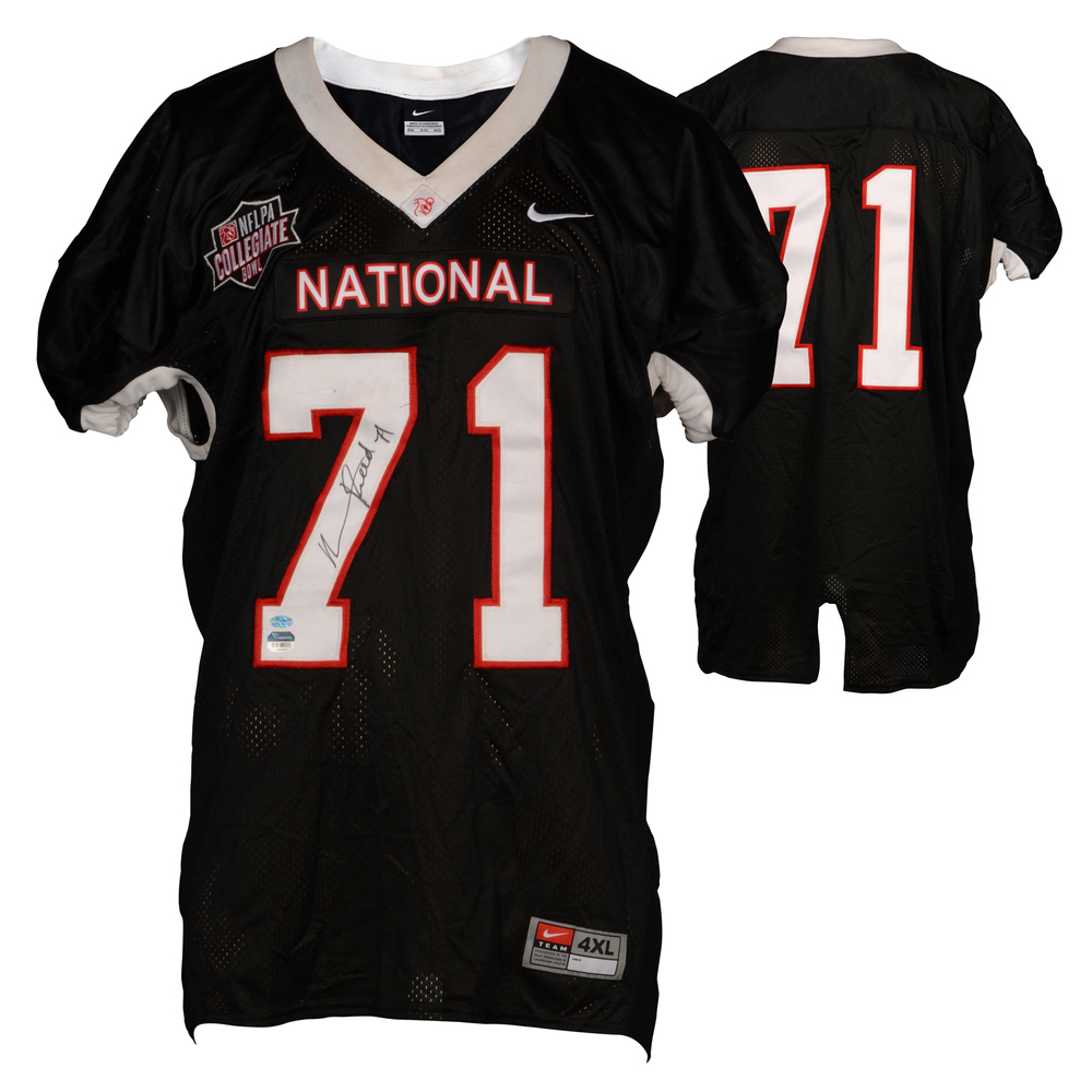 Marcus Reed Fayetteville State Broncos Autographed Game-Used NFLPA Collegiate Bowl Team National Black Jersey