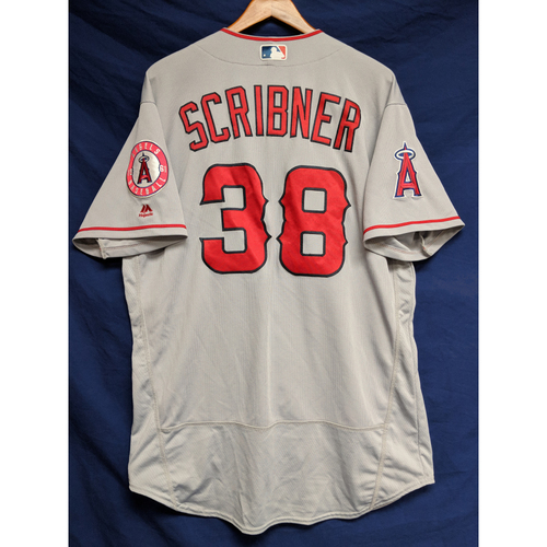 Photo of Troy Scribner Game-Used Road Jersey