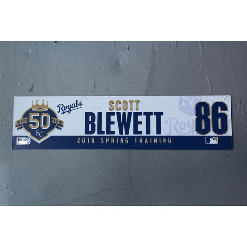 Photo of Spring Training Locker Nameplate: Scott Blewett