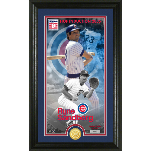 Photo of Ryne Sandberg National Baseball Hall of Fame Supreme Bronze Coin Photo Mint