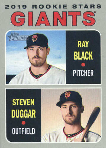 Photo of 2019 Topps Heritage #267 Steven Duggar RC/Ray Black RC