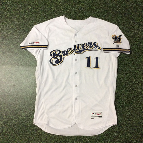 Photo of Mike Moustakas 03/28/19 Game-Used Opening Day Jersey - 2nd Inning Homerun