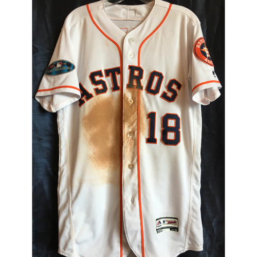 Photo of Tony Kemp 2018 Game-Used ALDS/ALCS Jersey