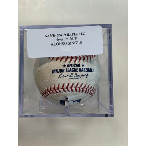 Game-Used Baseball: Yonder Alonso Single