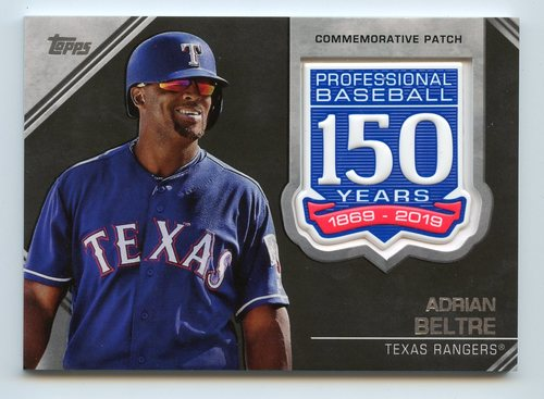 Photo of 2019 Topps 150th Anniversary Manufactured Patches #AMPAB Adrian Beltre S2
