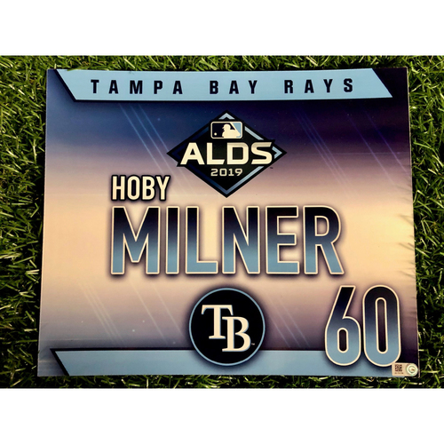 Photo of Team Issued ALDS Locker Tag: Hoby Milner