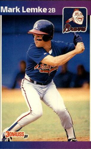 Photo of 1989 Donruss #523 Mark Lemke DP RC