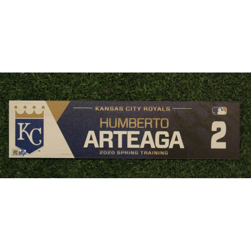 Photo of Game-Used Spring Training Locker Tag: Humberto Arteaga #2