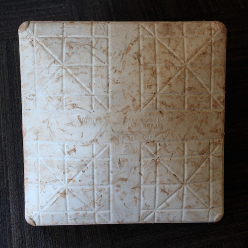 Photo of Game-Used Base - Tampa Bay Rays at Baltimore Orioles (8/2/2020) - 2nd Base - Innings 4.5-9