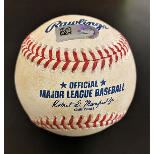 Photo of Whit Merrifield Kansas City Royals Hit By Pitch Baseball (MLB AUTHENTICATED)