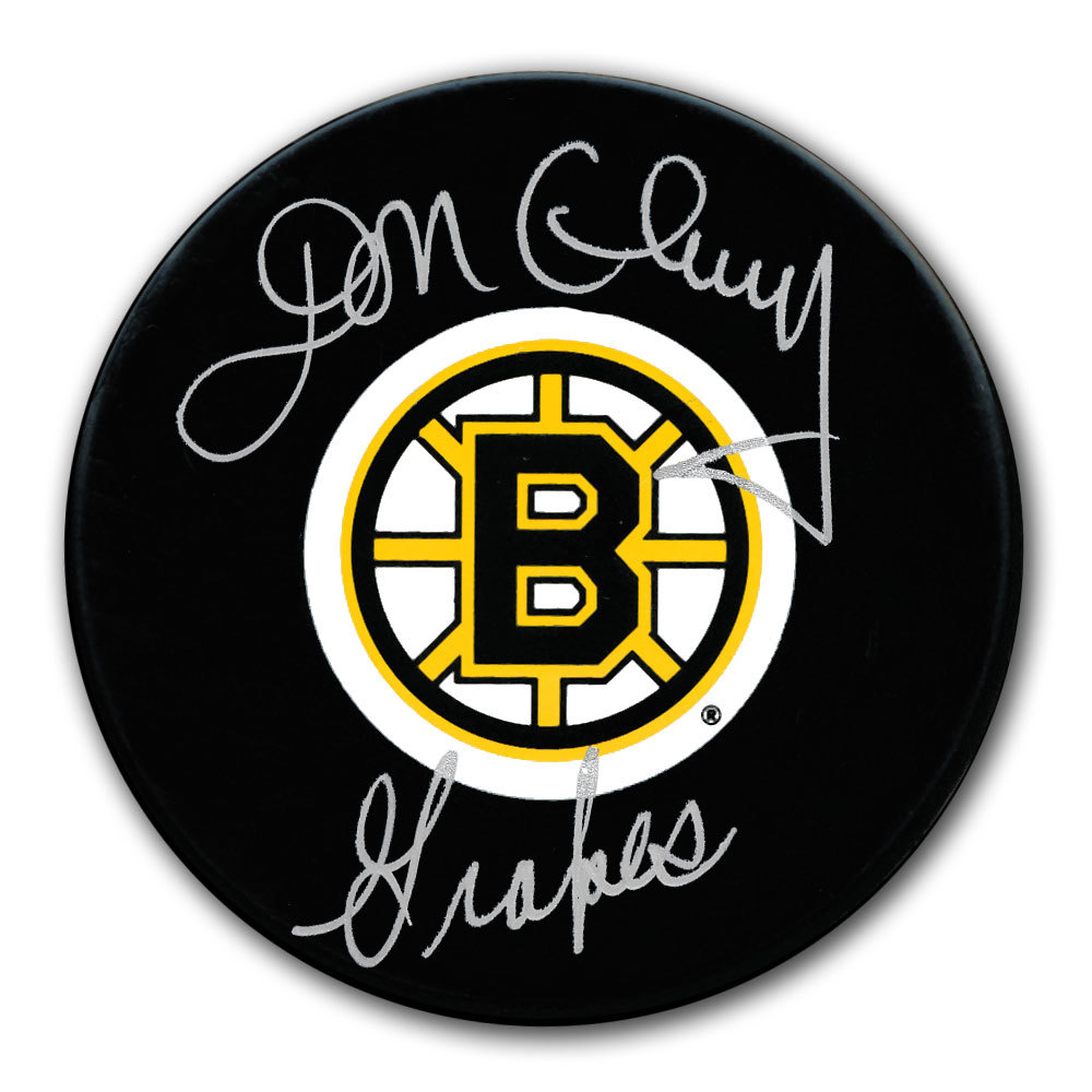 Don Cherry Boston Bruins GRAPES Autographed Puck