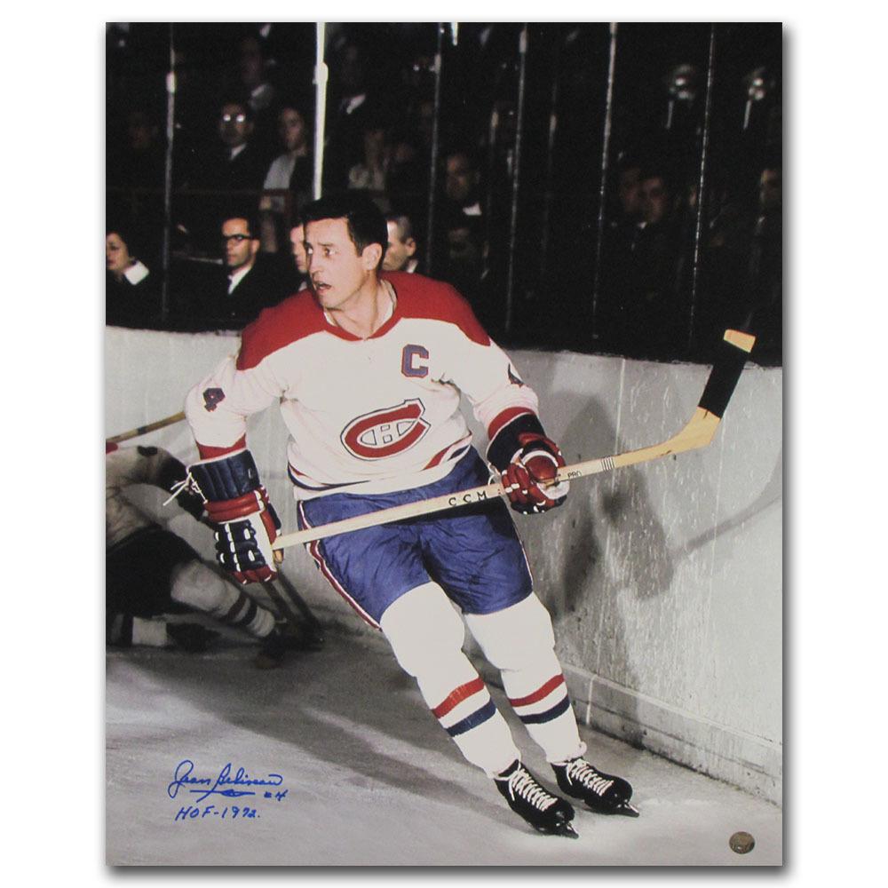 Jean Beliveau Autographed Montreal Canadiens 16X20 Photo