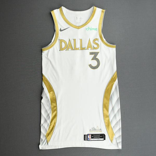 Image of Trey Burke - Dallas Mavericks - Game-Worn - City Edition Jersey - 2020-21 NBA Season