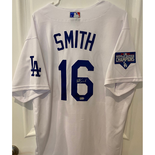 Photo of Will Smith Authentic Autographed Los Angeles Dodgers Jersey