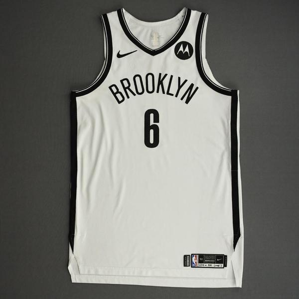 Image of DeAndre Jordan - Brooklyn Nets - Game-Worn Association Edition Jersey - Dressed, Did Not Play (DNP) - 2021 NBA Playoffs