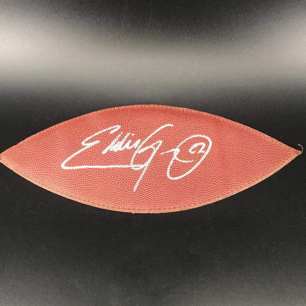 NFL - Titans Eddie George Signed Leather Panel